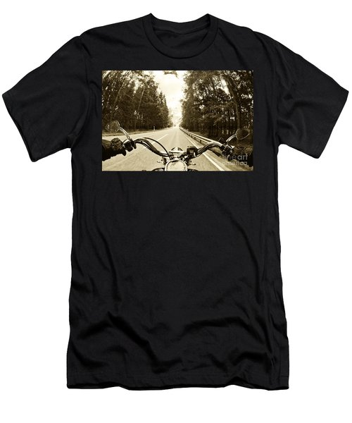 Riders Eye Veiw In Sepia Men's T-Shirt (Slim Fit) by Micah May