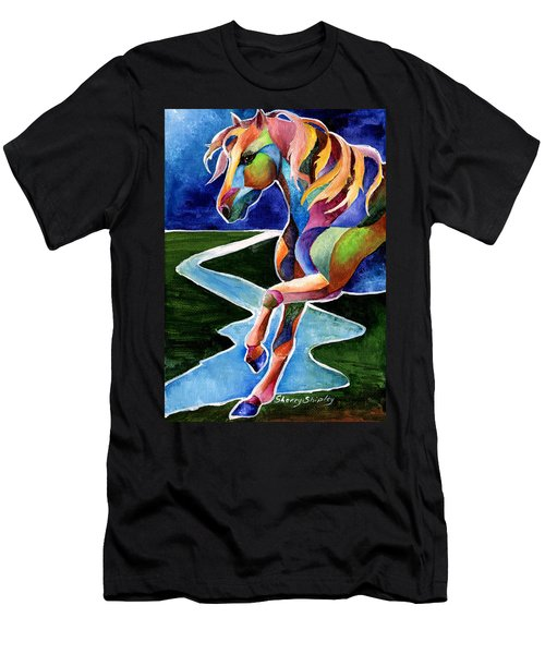 River Dance 2 Men's T-Shirt (Athletic Fit)