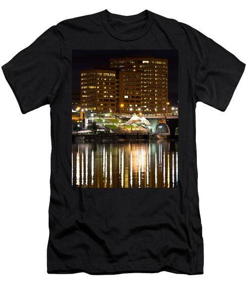 River Front At Night Men's T-Shirt (Athletic Fit)