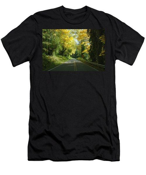 Road Through Autumn Men's T-Shirt (Athletic Fit)