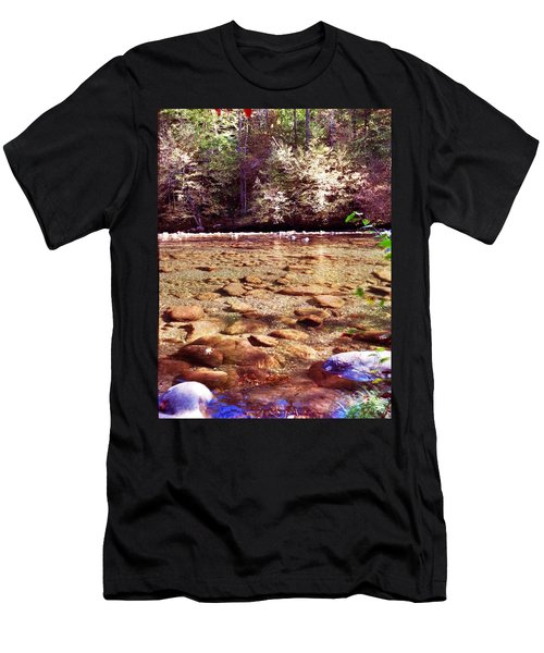 Men's T-Shirt (Slim Fit) featuring the photograph Rock Work by Janice Spivey