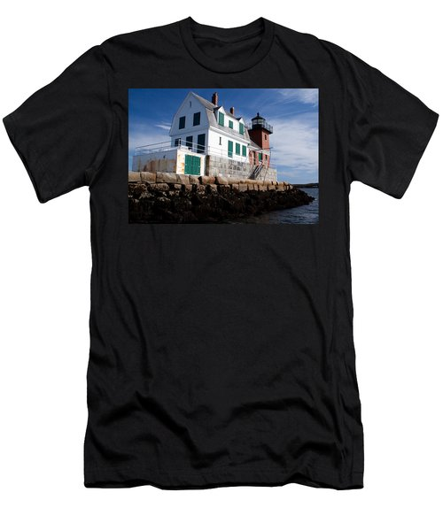 Rockland Breakwater Lighthouse Men's T-Shirt (Athletic Fit)