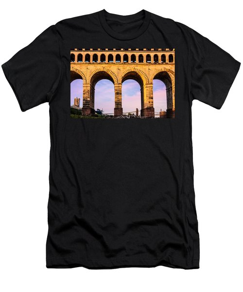 Roman Arches Men's T-Shirt (Slim Fit) by Semmick Photo