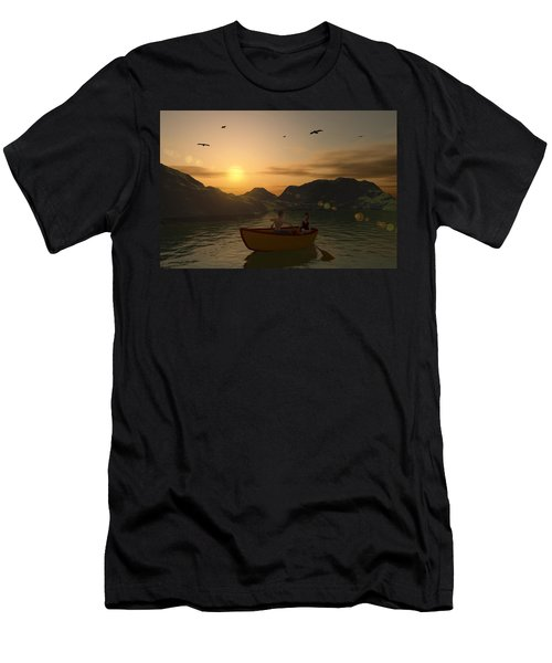 Romance On The Lake Men's T-Shirt (Athletic Fit)