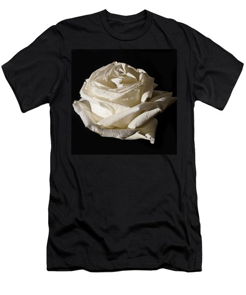Men's T-Shirt (Slim Fit) featuring the photograph Rose Silver Anniversary by Steve Purnell