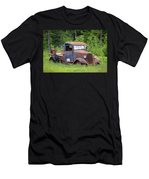 Men's T-Shirt (Slim Fit) featuring the photograph Rusty Chevy by Steve McKinzie
