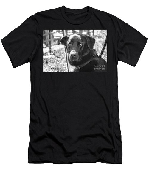 Men's T-Shirt (Slim Fit) featuring the photograph Sad Eyes by Eunice Gibb