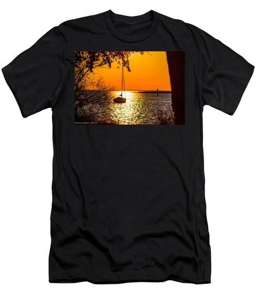 Men's T-Shirt (Slim Fit) featuring the photograph Sail Away by Shannon Harrington