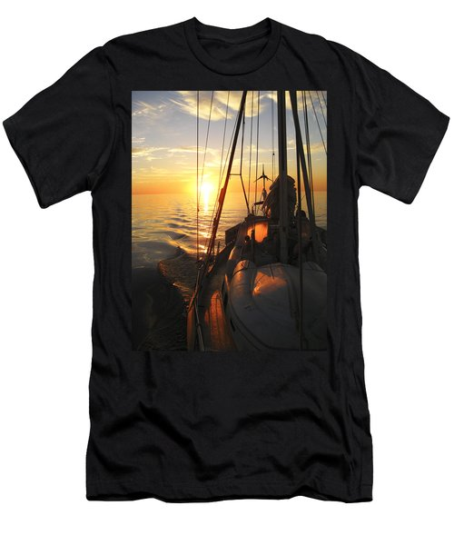 Sailing Men's T-Shirt (Slim Fit) by Anne Mott