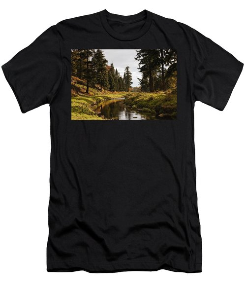 Scenic River, Northumberland, England Men's T-Shirt (Slim Fit) by John Short