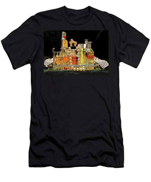 Men's T-Shirt (Slim Fit) featuring the photograph Scents Of A Woman by DigiArt Diaries by Vicky B Fuller