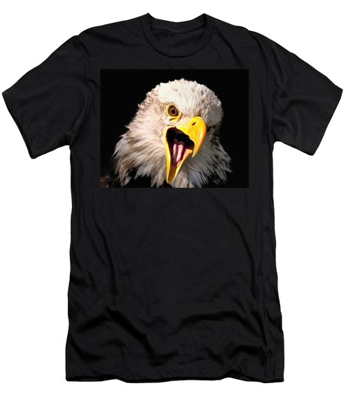 Screaming Eagle II Black Men's T-Shirt (Athletic Fit)
