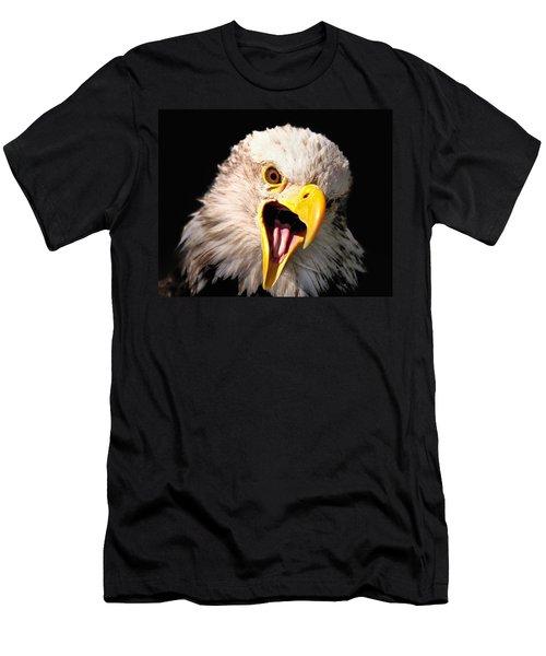Screaming Eagle II Black Men's T-Shirt (Athletic Fit)