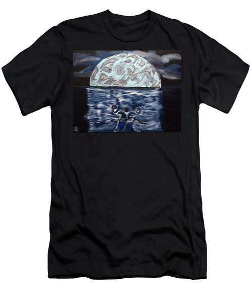 Men's T-Shirt (Slim Fit) featuring the painting Sea Of Troubles by Lisa Brandel