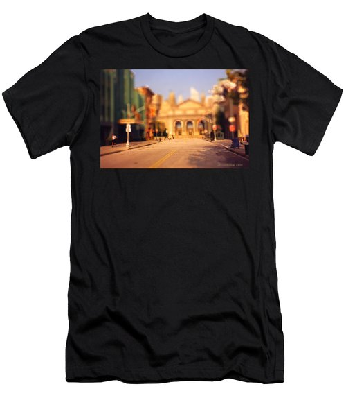 Men's T-Shirt (Slim Fit) featuring the photograph Seaport Tiltshift by EricaMaxine  Price