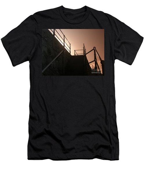 Men's T-Shirt (Slim Fit) featuring the photograph Seaside Railings by Terri Waters