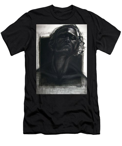 Men's T-Shirt (Athletic Fit) featuring the drawing Self Portrait 2008 by Gabrielle Wilson-Sealy