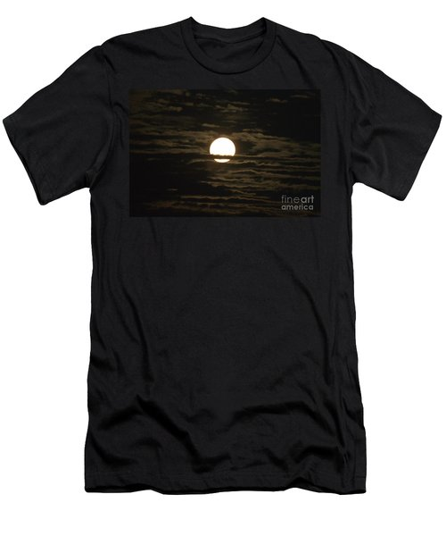 Men's T-Shirt (Slim Fit) featuring the photograph Seneca Lake Moon by William Norton