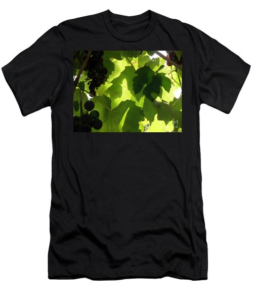Men's T-Shirt (Slim Fit) featuring the photograph Shadow Dancing Grapes by Lainie Wrightson