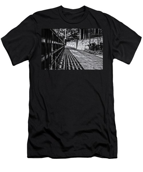 Men's T-Shirt (Slim Fit) featuring the photograph Shadow Walk by Tom Gort