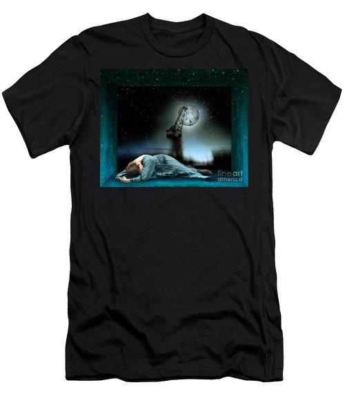 Men's T-Shirt (Slim Fit) featuring the digital art Shrine Of Dreams by Rosa Cobos