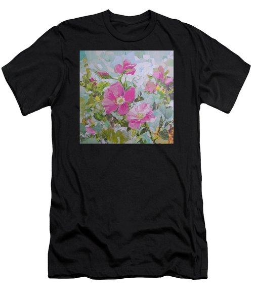 Shrub Roses Men's T-Shirt (Athletic Fit)