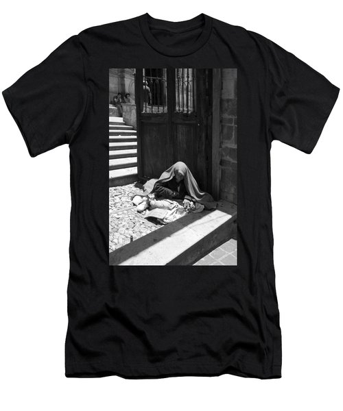 Silent Desperation Men's T-Shirt (Slim Fit) by Lynn Palmer