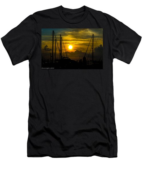 Silhouettes At The Marina Men's T-Shirt (Athletic Fit)