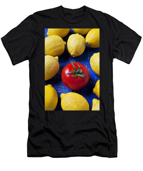 Single Tomato With Lemons Men's T-Shirt (Athletic Fit)