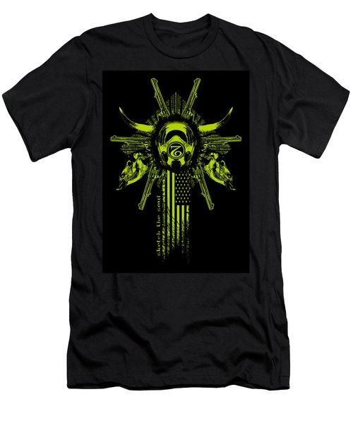 Six Shooter Men's T-Shirt (Slim Fit) by Tony Koehl