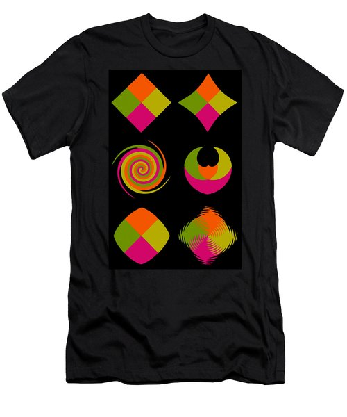 Men's T-Shirt (Slim Fit) featuring the photograph Six Squared Collage by Steve Purnell