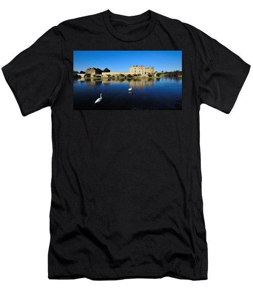 Skating Swans Men's T-Shirt (Athletic Fit)