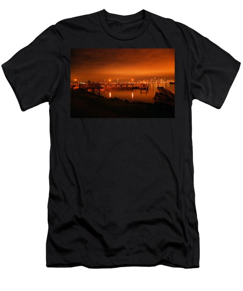 Skies On Fire Men's T-Shirt (Athletic Fit)