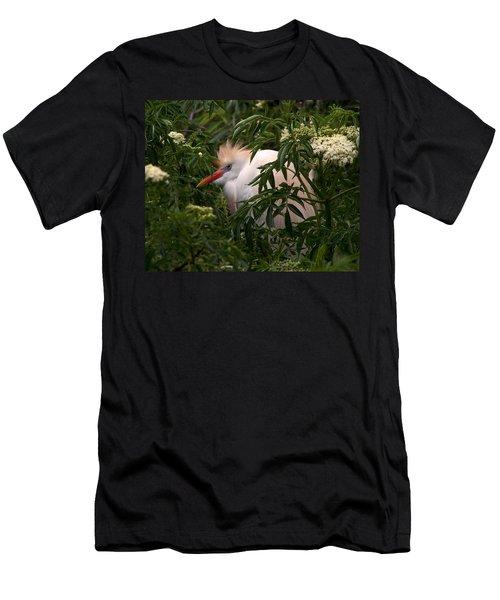 Sleepy Egret In Elderberry Men's T-Shirt (Athletic Fit)