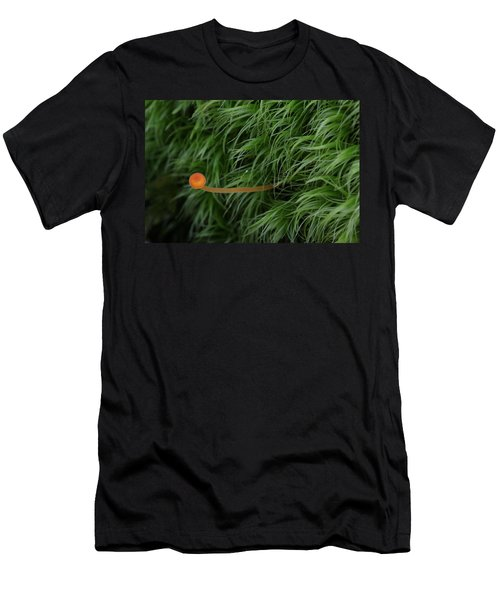 Small Orange Mushroom In Moss Men's T-Shirt (Athletic Fit)