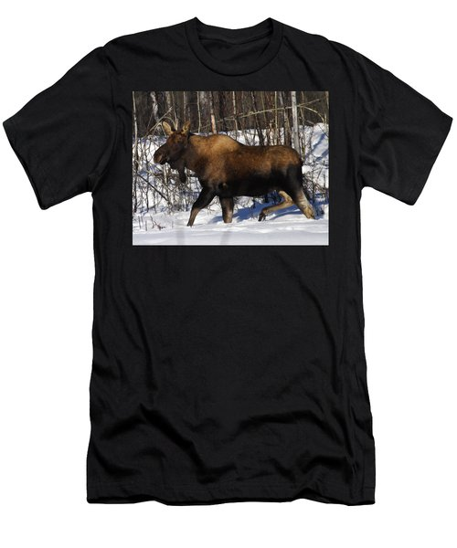 Men's T-Shirt (Slim Fit) featuring the photograph Snow Moose by Doug Lloyd