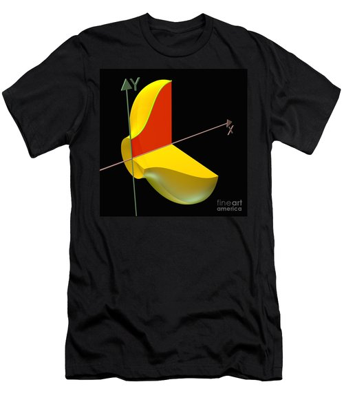 Men's T-Shirt (Slim Fit) featuring the digital art Solid Of Revolution 1 by Russell Kightley