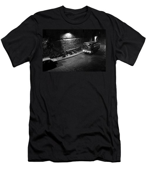 Men's T-Shirt (Slim Fit) featuring the photograph Solitary Wait by Lynn Palmer