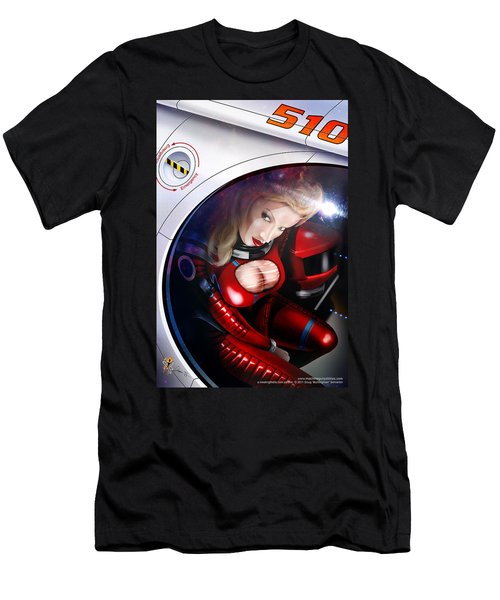Men's T-Shirt (Athletic Fit) featuring the digital art Space Girl by Doug Schramm