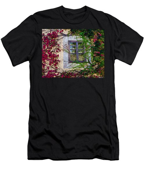 Men's T-Shirt (Slim Fit) featuring the photograph Spanish Window by Don Schwartz