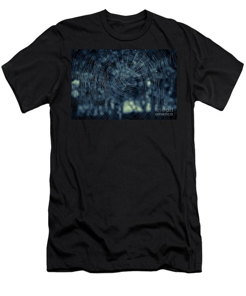 Men's T-Shirt (Slim Fit) featuring the photograph Spider Web by Matt Malloy