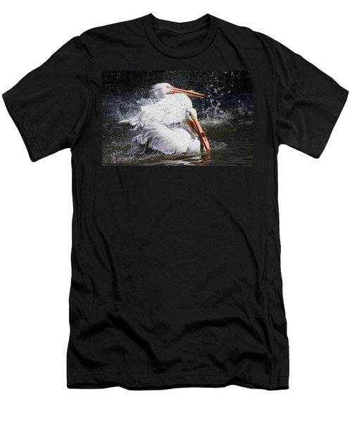 Men's T-Shirt (Slim Fit) featuring the photograph Splish Splash by Elizabeth Winter