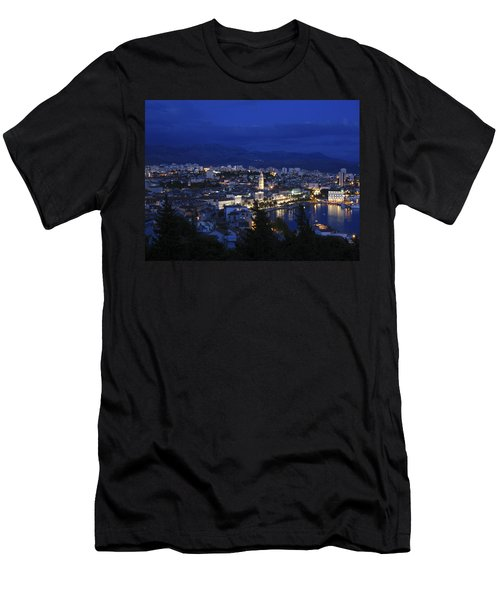 Men's T-Shirt (Slim Fit) featuring the photograph Split Croatia by David Gleeson