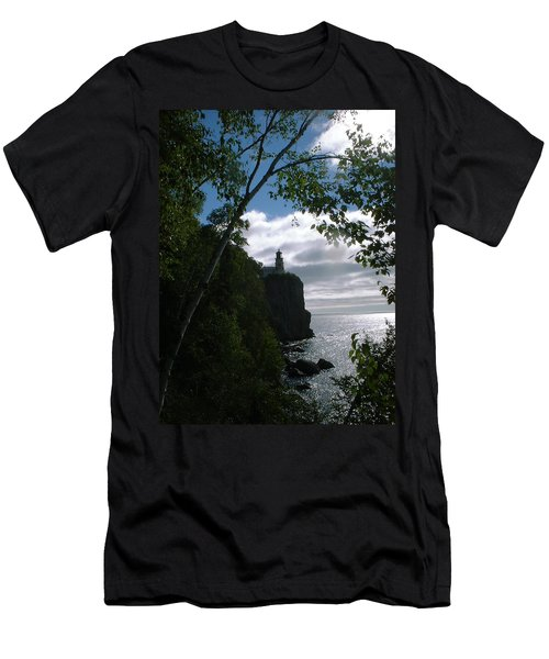 Men's T-Shirt (Slim Fit) featuring the photograph Split Rock II by Bonfire Photography