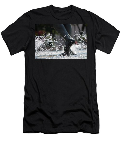 Men's T-Shirt (Slim Fit) featuring the photograph Sploosh by Stephanie Nuttall