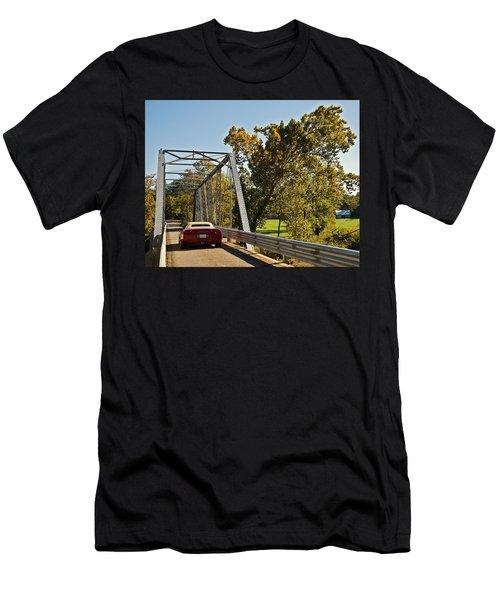 Men's T-Shirt (Slim Fit) featuring the photograph Sports Car On A Bridge by Susan Leggett