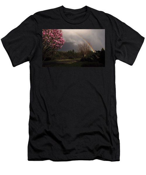 Men's T-Shirt (Slim Fit) featuring the photograph Spring Rainbow by Katie Wing Vigil