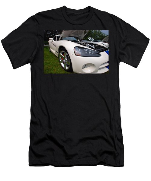 Men's T-Shirt (Slim Fit) featuring the pyrography Ssss 2009 Dodge Viper by John Schneider