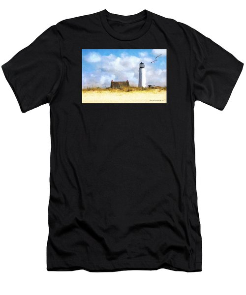 St. George Island Lighthouse Men's T-Shirt (Athletic Fit)