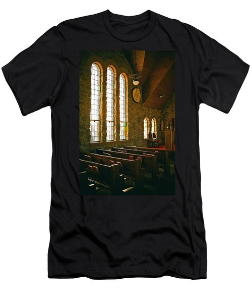Men's T-Shirt (Slim Fit) featuring the photograph St Malo Church by David Pantuso